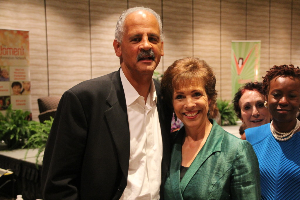 Dr. Paula Fellingham with Stedman Graham - 1