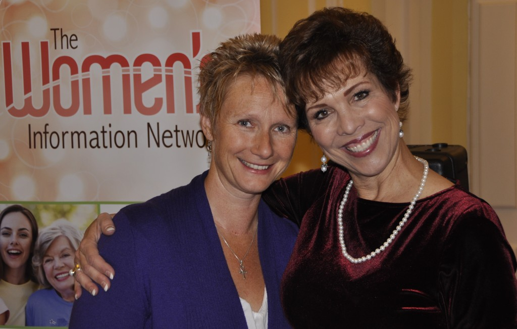 Dr. Paula Fellingham with an attendee at the UK London Global Women's Summit