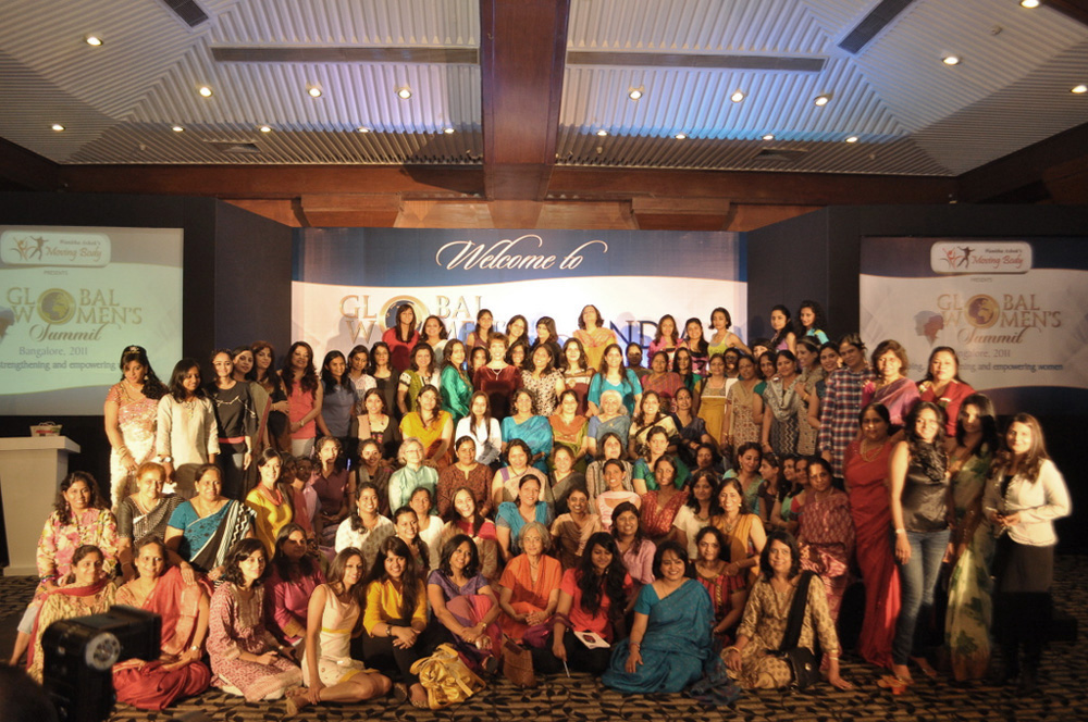 Dr. Paula Fellingham with women at Global Women's Summit in India