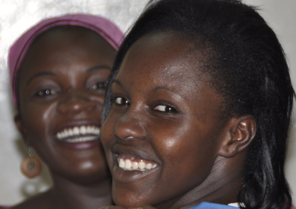 Young African women at Global Women's Summit in Kenya
