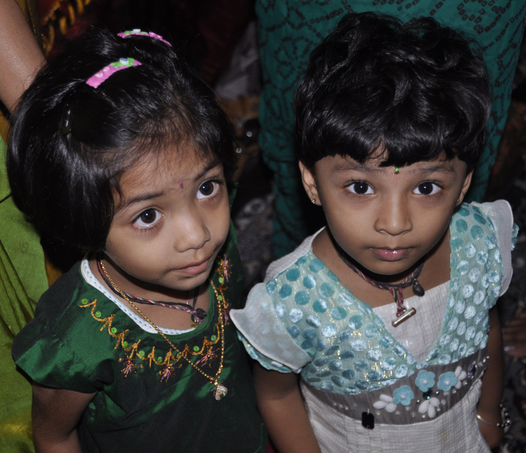 Young children at Global Women's Summit in India
